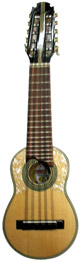 Round Soundhole Concert Charango with Pick up - Naranjillo Wood