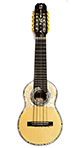 Concert Charango with Rosette. Edge and Tuning Pin Embedded in Abalones