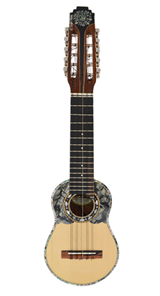 Concert Charango with Edges and Tuning Machine embedded with Abalones