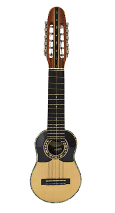 Concert charango with jacaranda wood and ebony diapason, Fishman System