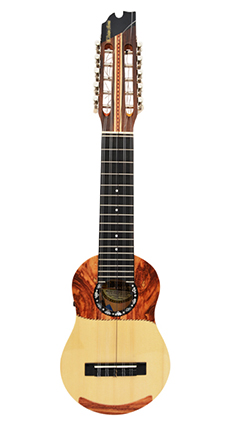 Concert charango with naranjillo wood and ebony diapason, Finning System
