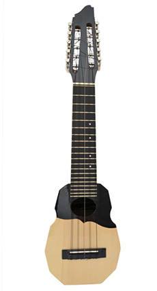 Concert charango with jacaranda wood and ebony diapason, Elegant black top